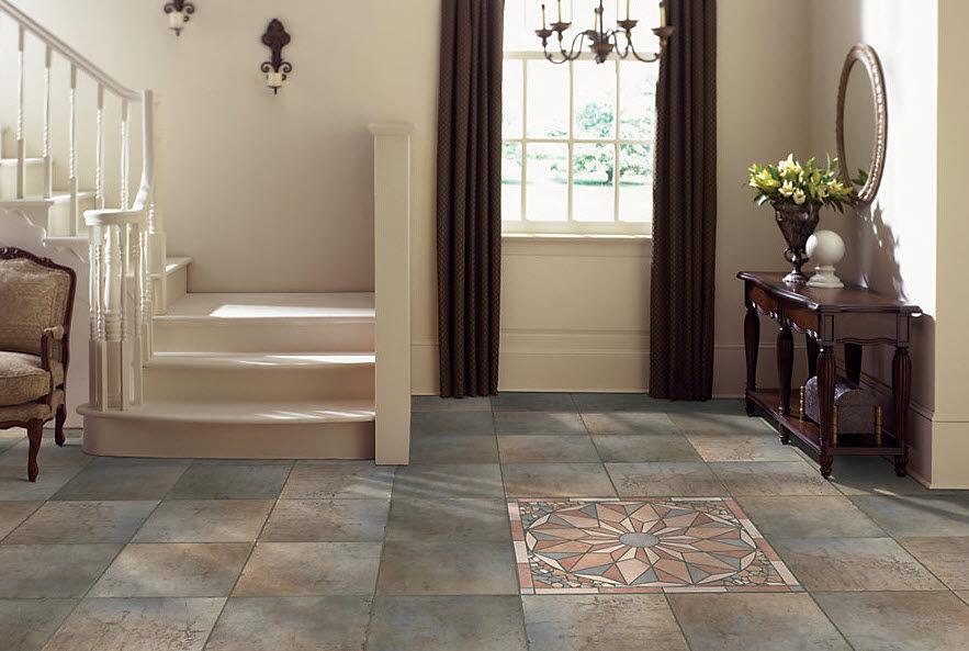 Indoor Tile Floor Porcelain Stoneware Enameled Quarry Stone
