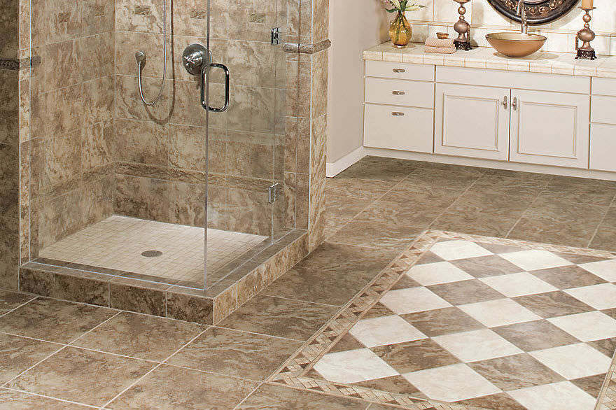Indoor Tile Bathroom Floor Ceramic Pavin Stone Mohawk
