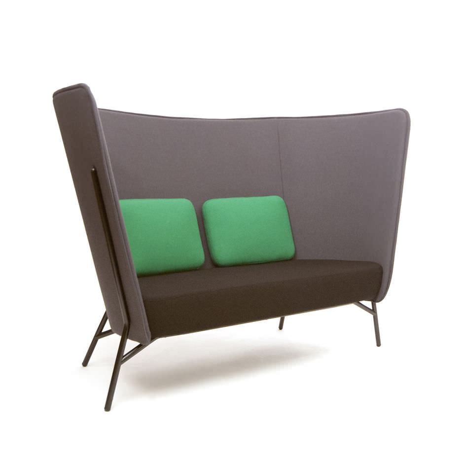 contemporary sofa fabric for open plan areas 2 seater aura contemporary sofa fabric for open plan areas 2 seater aura by mikko