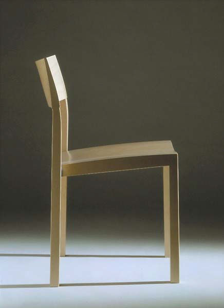 Stackable Wooden Chairs contemporary chair / molded plywood / solid wood / with armrests