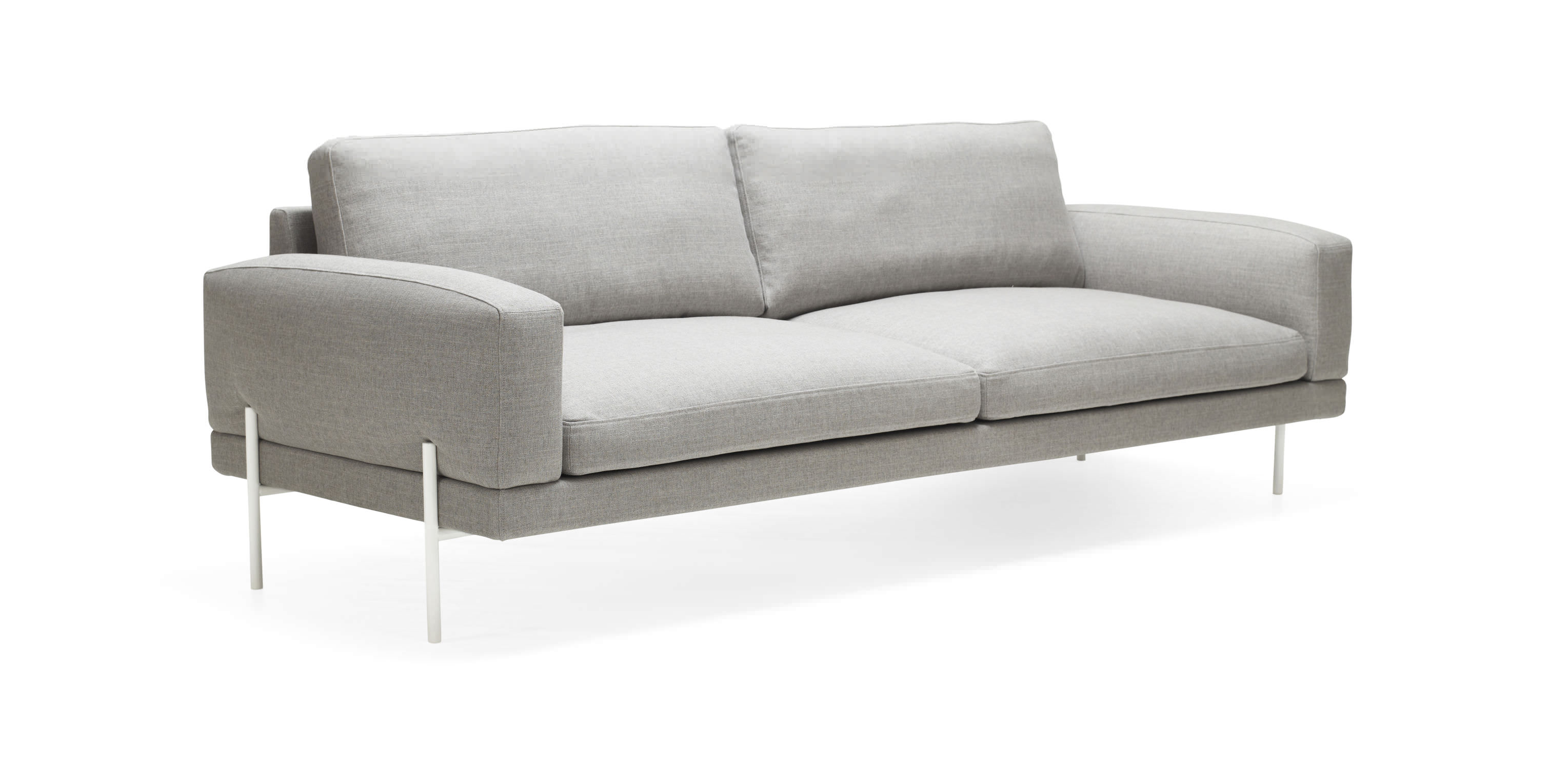 Contemporary sofa steel 2 seater gray ARMILLA by Emma