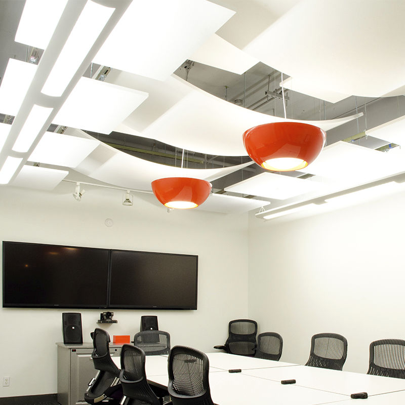 Fiberglass Suspended Ceiling Tile Acoustic Curved