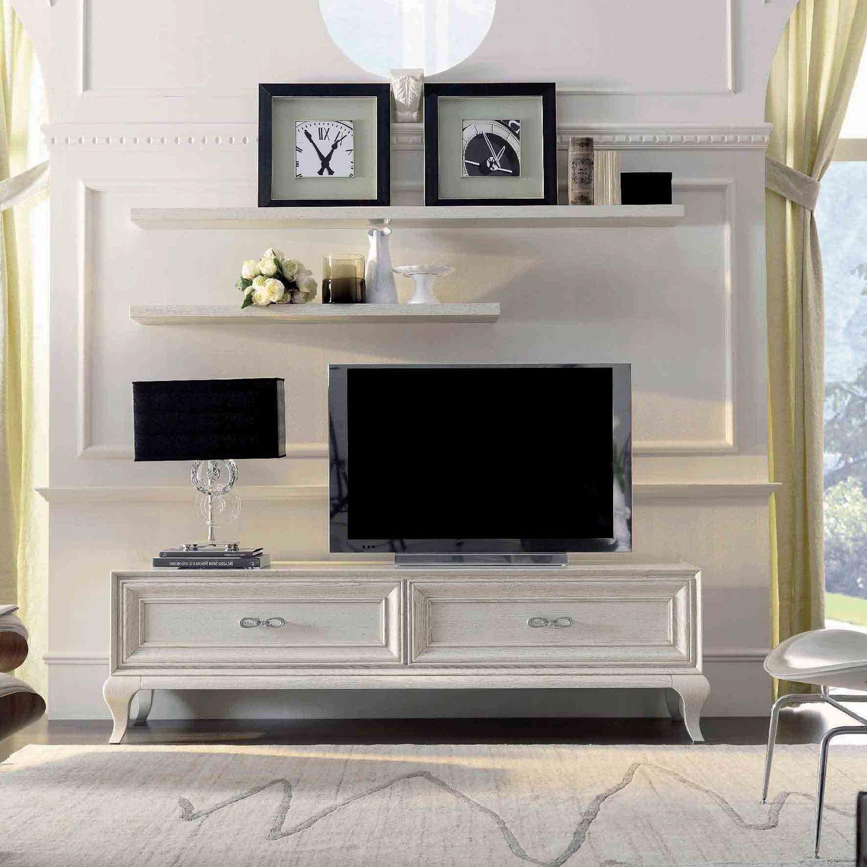 Maison Du Monde Mobili Tv.Traditional Tv Cabinet Lacquered Wood 9007 F1 Mozzo Giorgio S R L