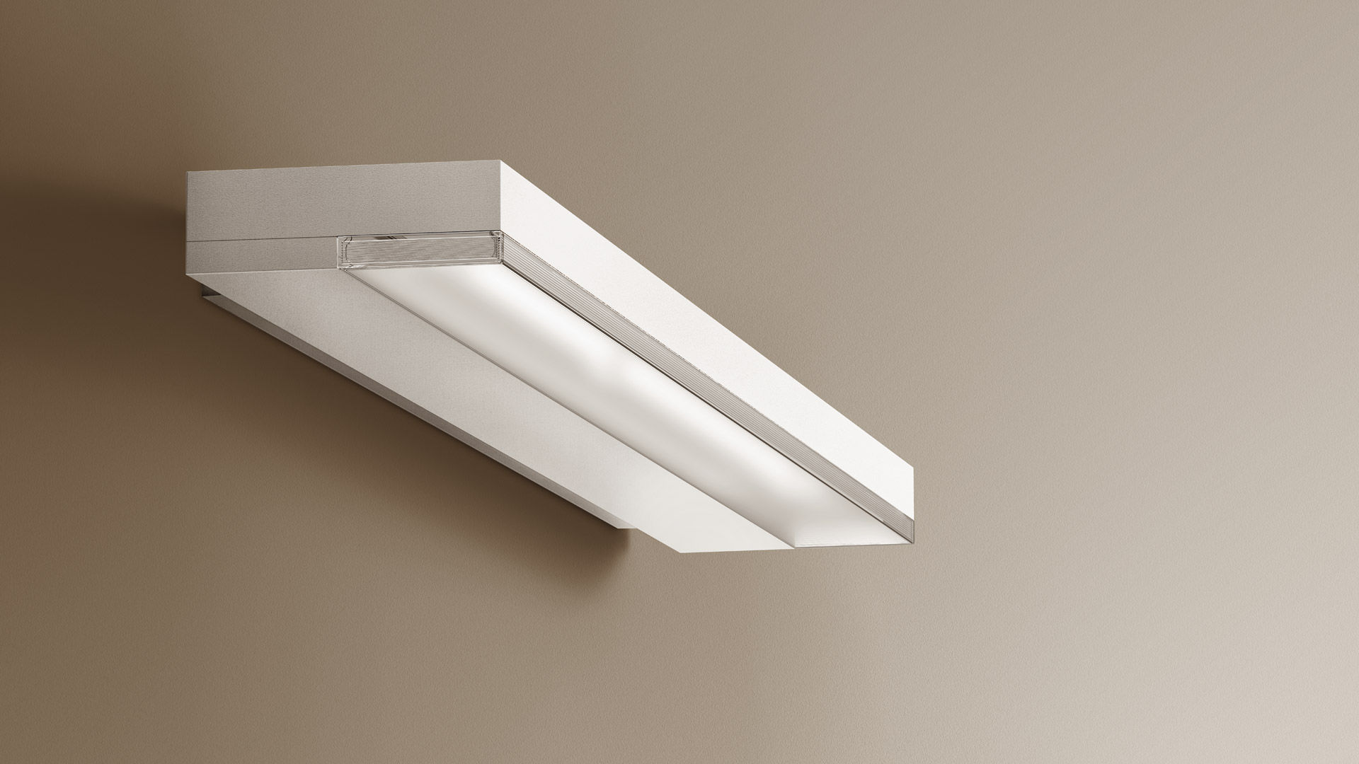 Contemporary wall light aluminum polycarbonate led