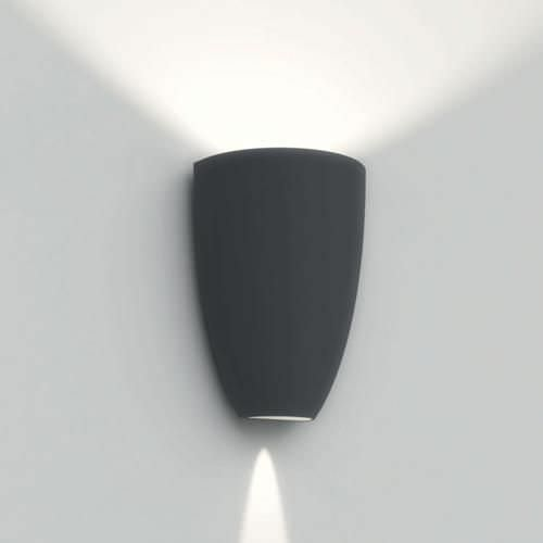 Contemporary wall light / outdoor / tempered glass facing ...