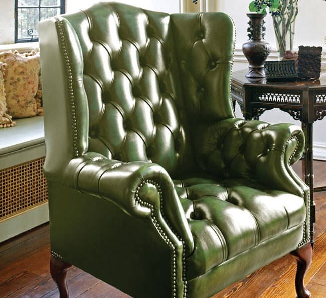 Chesterfield Armchair Leather Wing Hamilton Fleming Howland