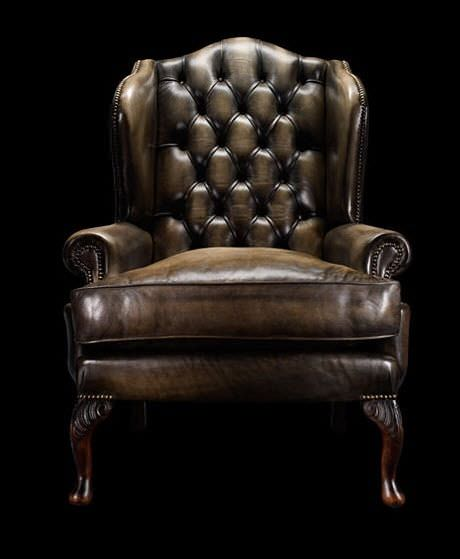 Chesterfield Armchair / Leather / Wool / Wing   JAMES BOSWELL