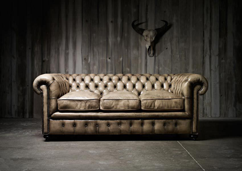 Chesterfield Sofa / Leather / 3 Seater / Brown   WILLIAM BLAKE