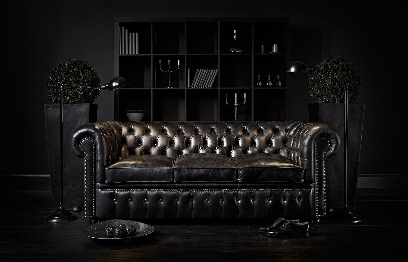 Chesterfield sofa leder  Chesterfield sofa / leather / 3-seater / brown - WILLIAM - Fleming ...