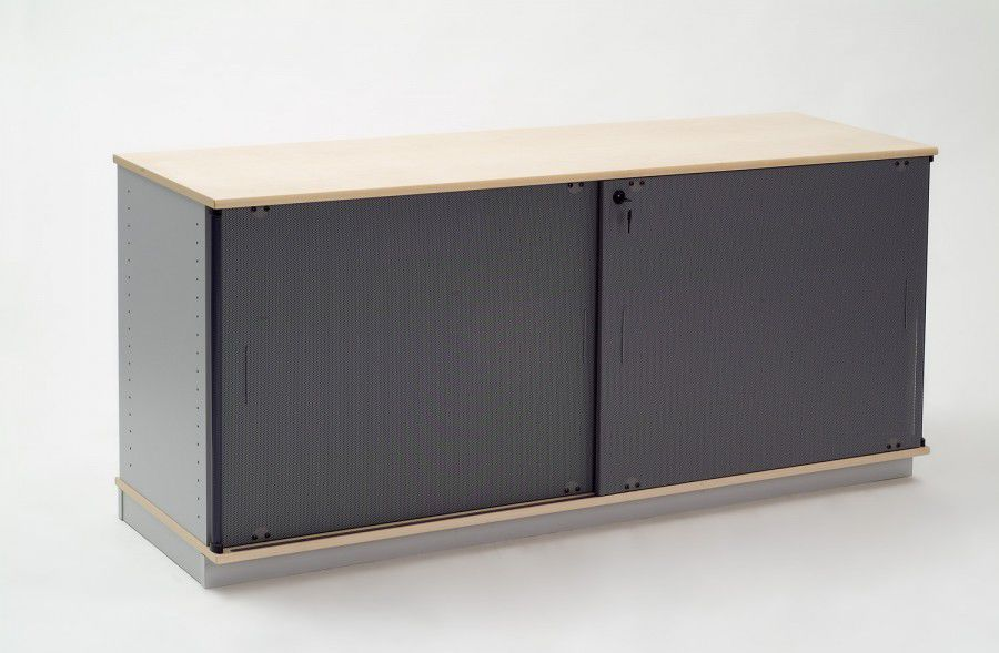 Low Filing Cabinet Steel Wooden With Sliding Door Ilo By