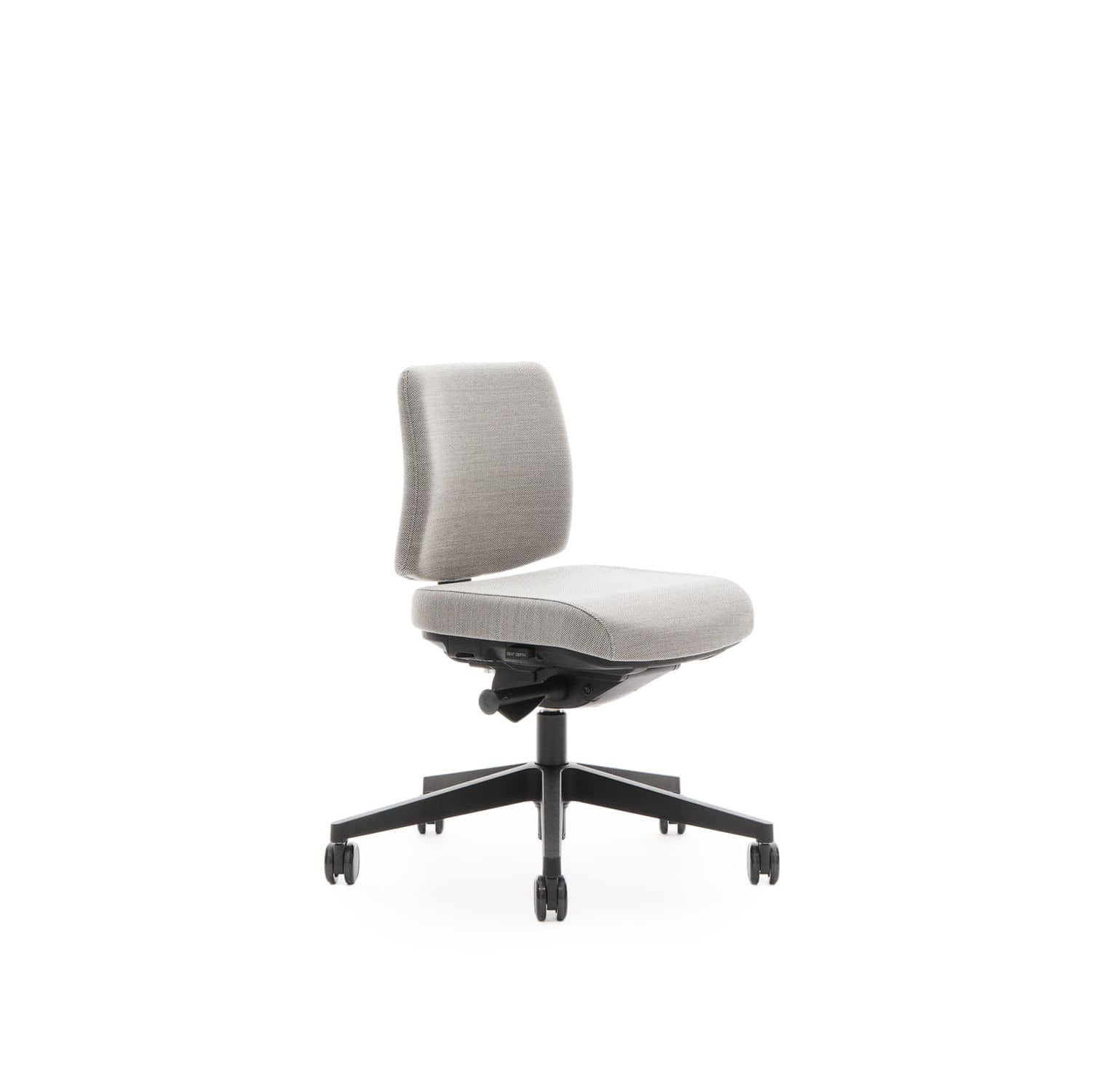 contemporary office chair on casters star base with armrests