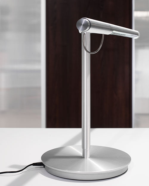 Desk lamp contemporary aluminum glass brazo by pablo pardo desk lamp contemporary aluminum glass aloadofball Image collections