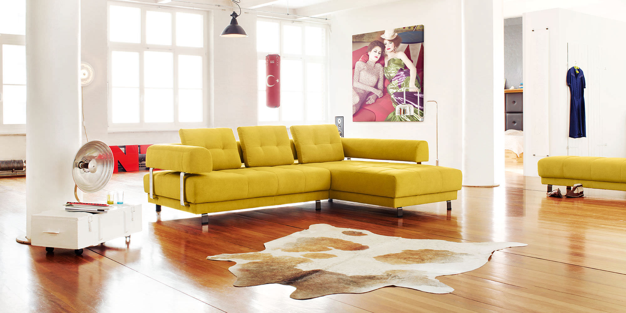 Marvelous Modular Sofa / Corner / Contemporary / Leather   DARIA