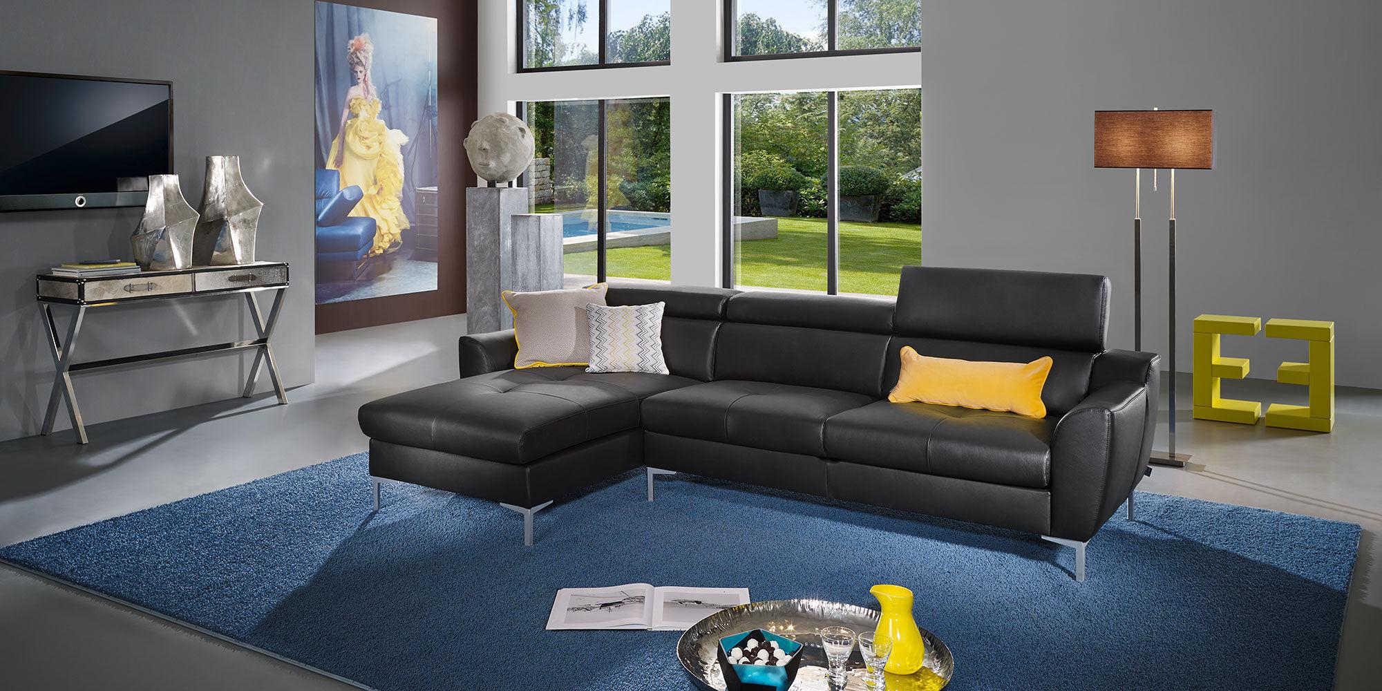 Modular Sofa / Contemporary / Leather / 3 Seater   TYRA