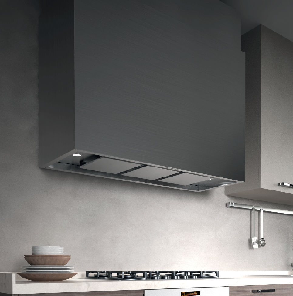 Wall-mounted range hood / with built-in lighting - CAPPA ATTIVA ...