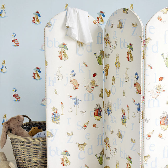 Upholstery fabric / for curtains / patterned / cotton - ALPHABET ...