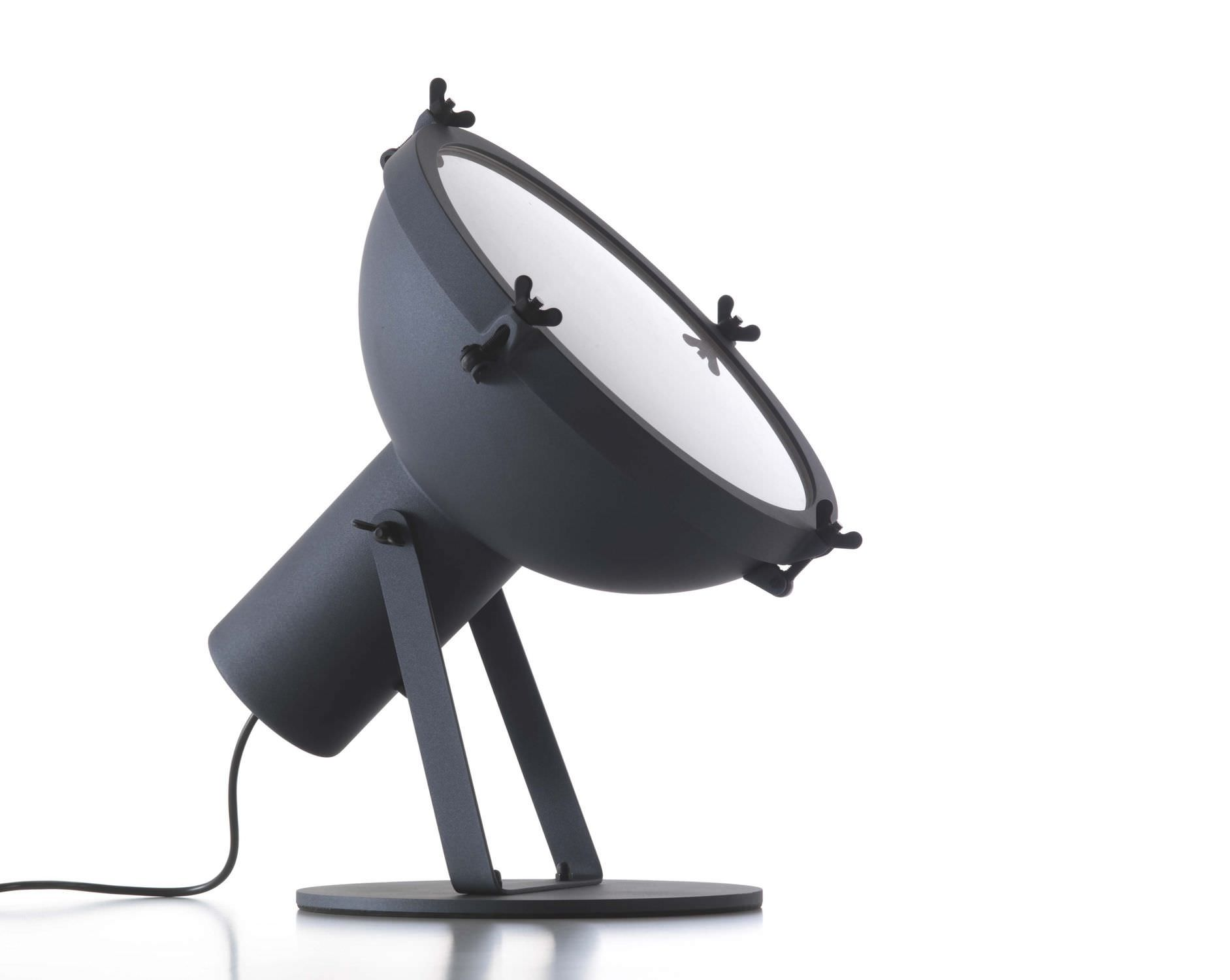 Floor lamp / original design / aluminum / glass - PROJECTEUR 365 by ...