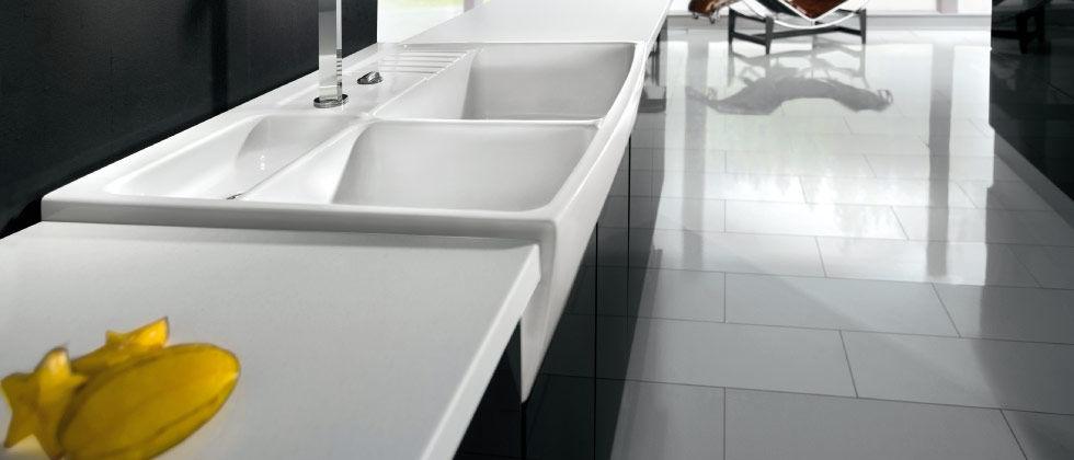 Single Bowl Kitchen Sink Ceramic Centra 60 Systemceram Gmbh