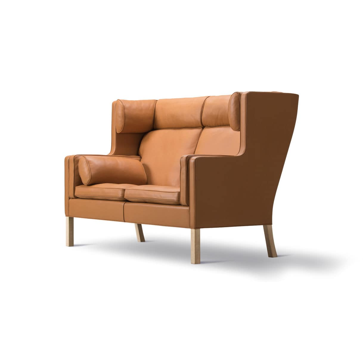 Scandinavian Design Sofa Leather Oak Walnut CoupÉ By Børge Mogensen