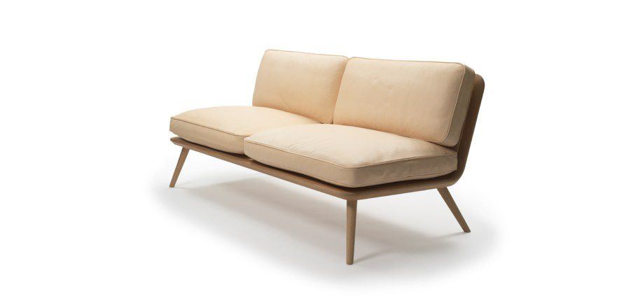 ... Scandinavian Design Sofa / Leather / By Jasper Morrison / 2 Seater  SPINE Fredericia Furniture ...