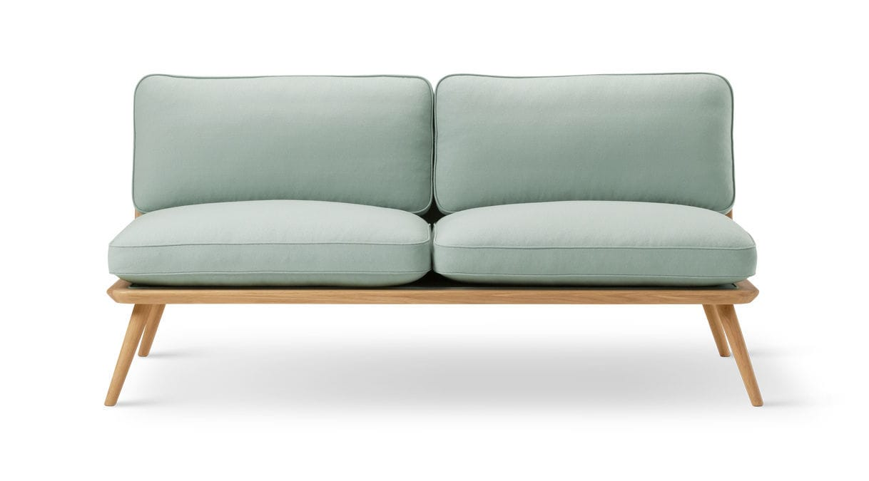 Scandinavian Design Sofa / Leather / By Jasper Morrison / 2 Seater SPINE  Fredericia Furniture ...