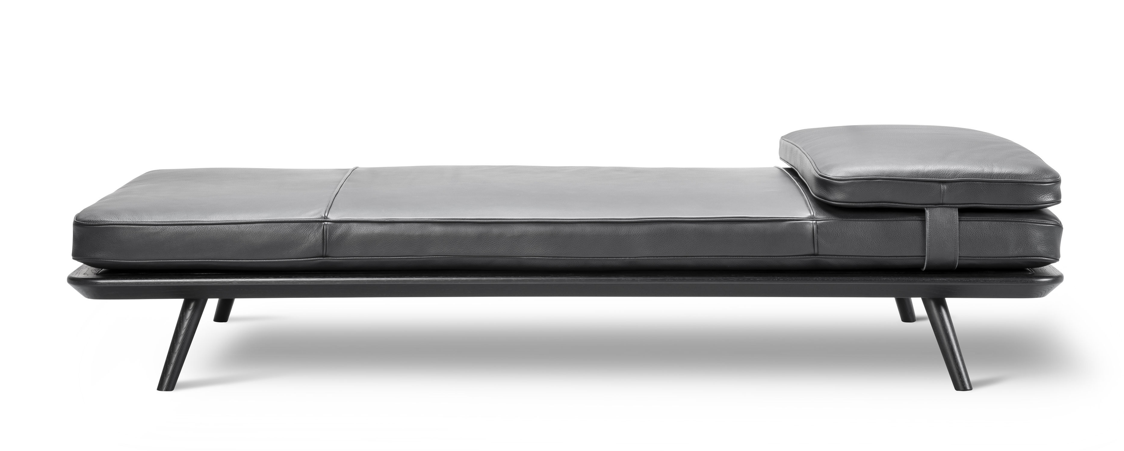 Contemporary day bed leather residential SPINE by Space