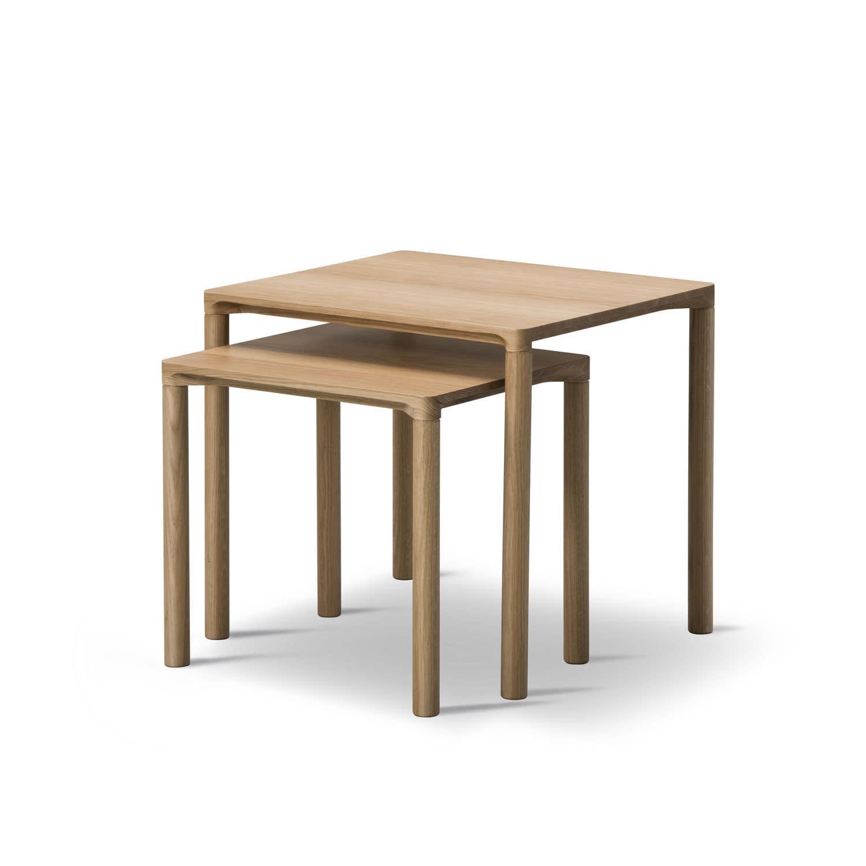 ... Contemporary Nesting Tables / Oak / Rectangular PILOTI : 6705 Hugo  Passos Fredericia Furniture ...