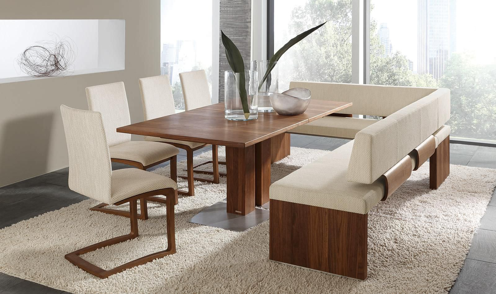 Contemporary Dining Table Wooden Rectangular