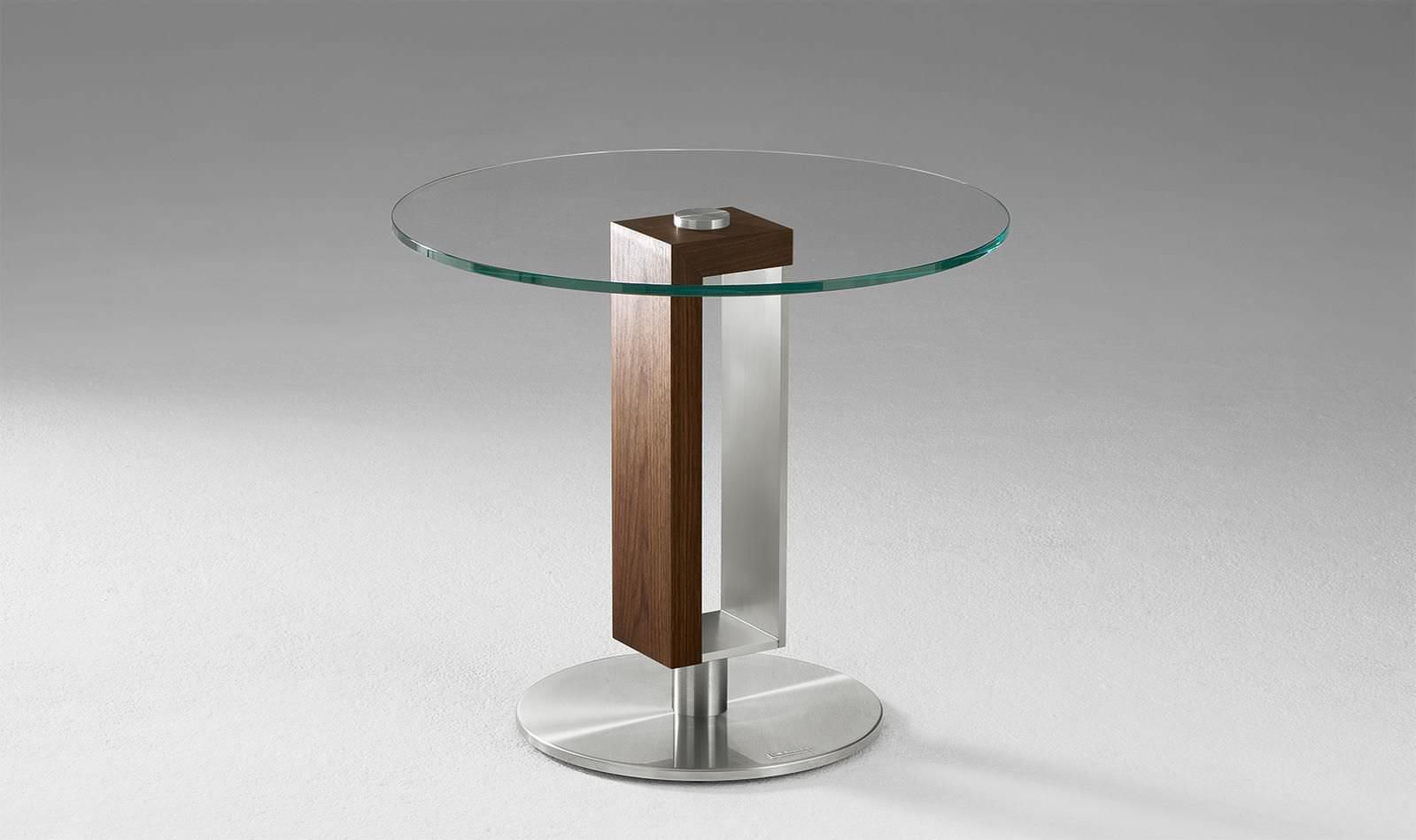 Contemporary Side Table / Glass / Round 4000 Alfons Venjakob GmbH U0026 Co.