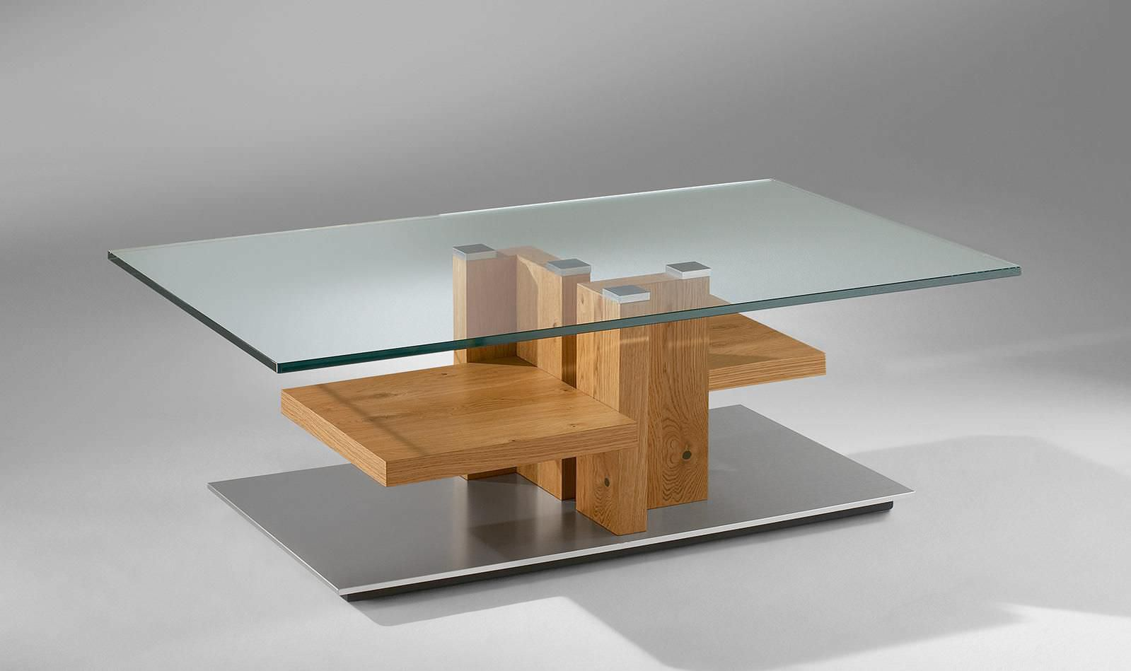 contemporary coffee table wooden glass rectangular 4424