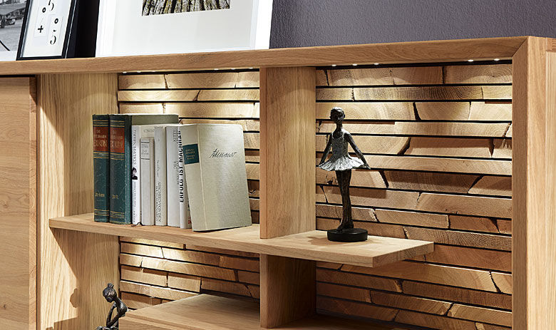 Kg Low Bookcase Contemporary Solid Wood Fino Alfons Venjakob Gmbh Co