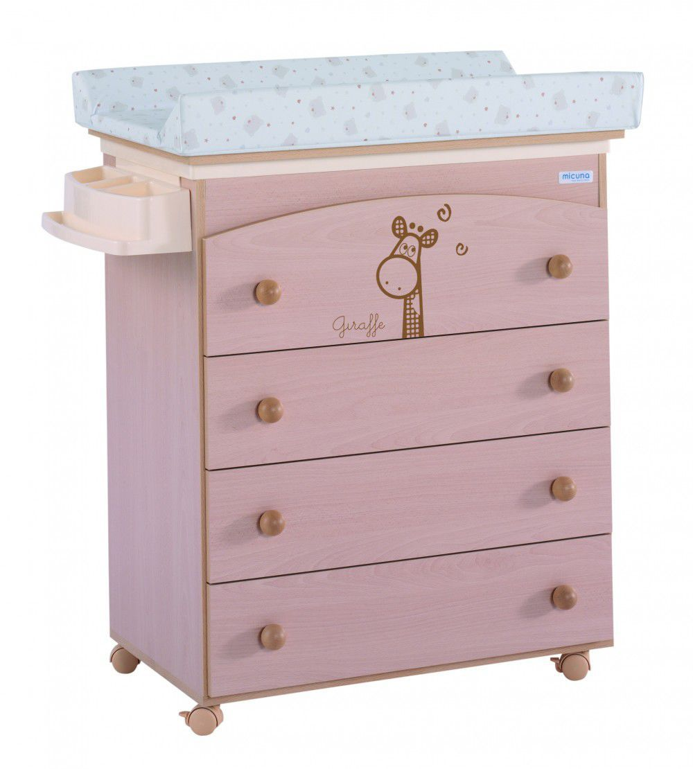 Lacquered Wood Changing Table / On Casters ...