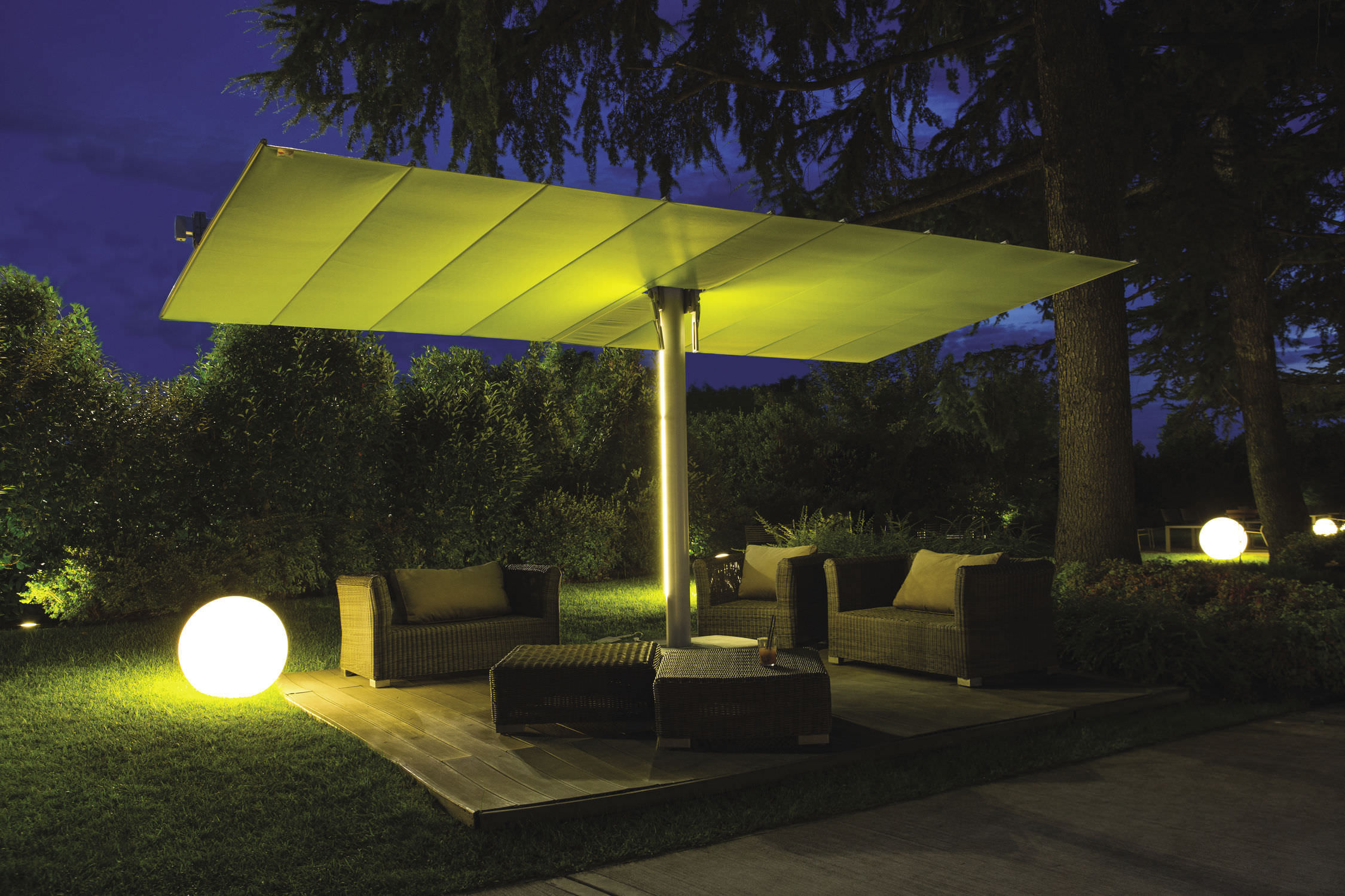 ... Contract Patio Umbrella / Fabric / Aluminum / Orientable ...