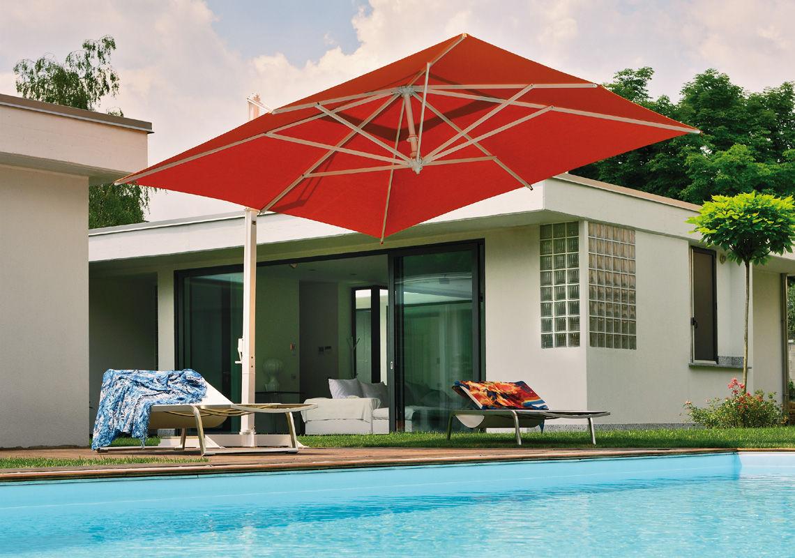 ... Offset Patio Umbrella / Commercial / Aluminum / Fabric RODI FIM ...