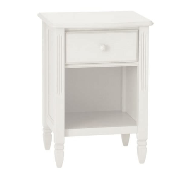 Attractive Traditional Bedside Table Solid Wood Rectangular Outdoor