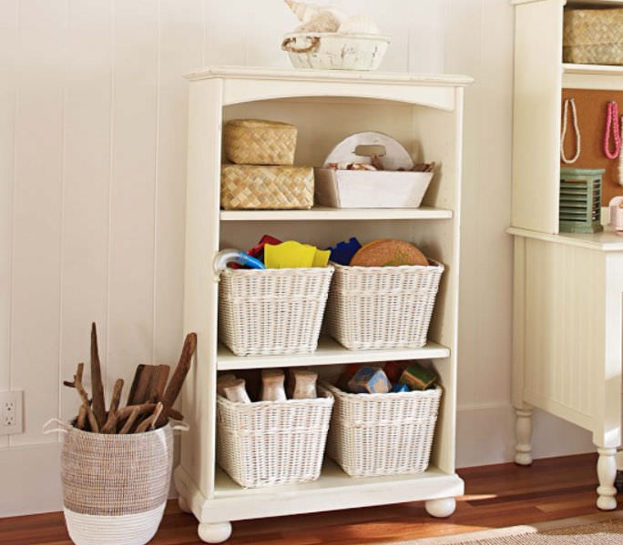 Traditional Bookcase Wooden On Casters
