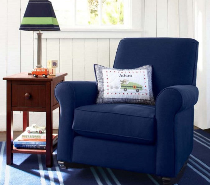 Traditional Armchair / Velvet / Rocker   CHARLESTON