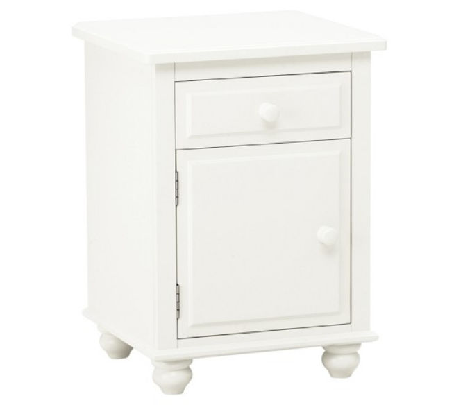 Traditional Bedside Table Solid Wood Square Childs Unisex - Pottery barn white bedside table