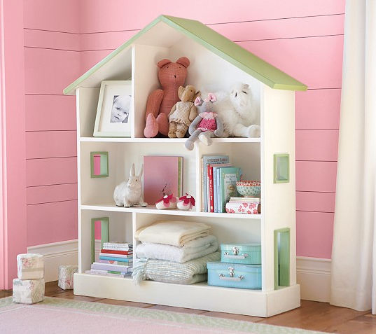 Contemporary bookcase / wooden / child\'s / girl\'s - DOLLHOUSE ...