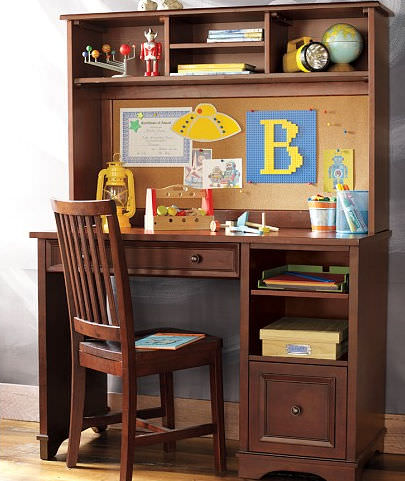mahogany desk with shelf childu0027s fillmore pottery barn kids