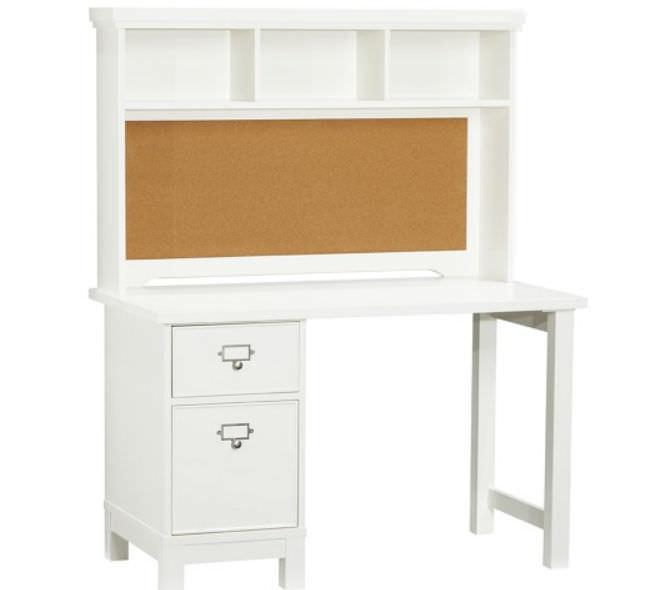 wooden desk with shelf childu0027s schoolhouse pottery barn kids - Childs Desk