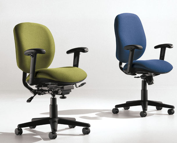 Contemporary Office Armchair Fabric On Casters Star Base