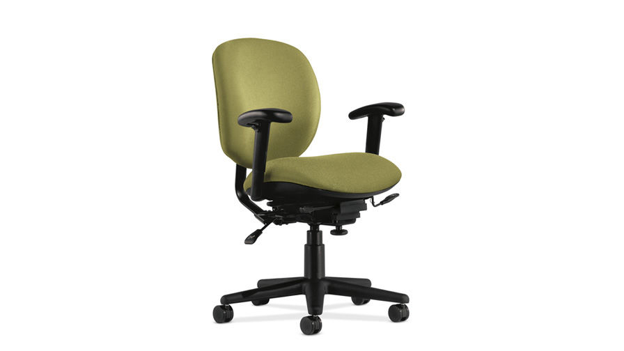 Contemporary office armchair fabric on casters star base TROOPER Allsteel