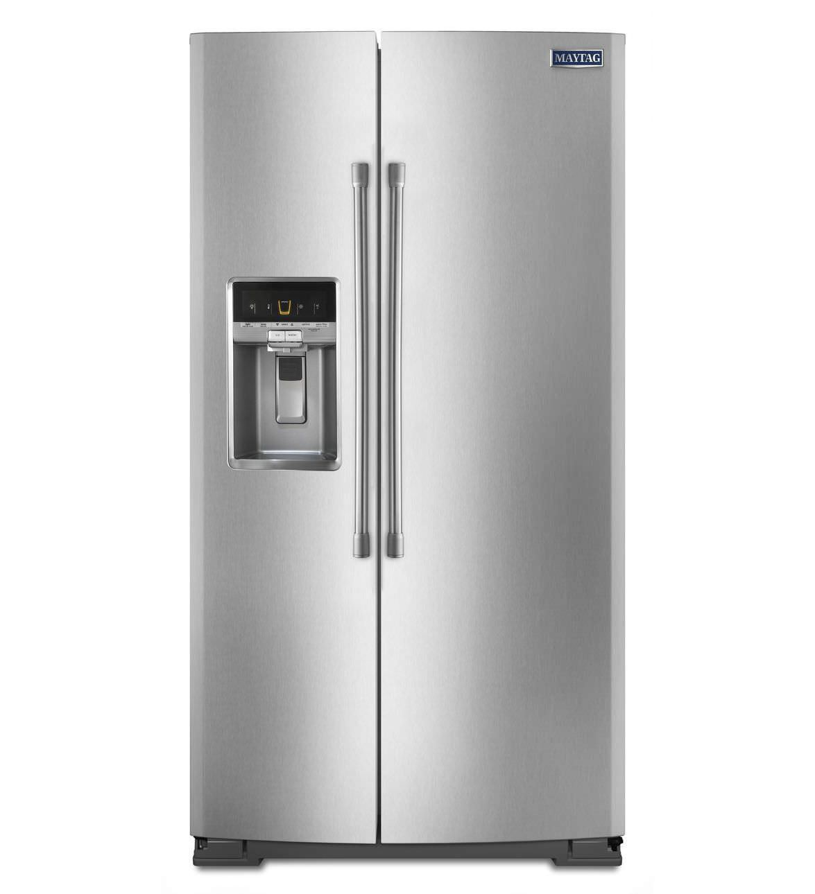 American refrigerator / stainless steel / with water dispenser ...