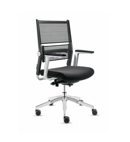 Contemporary Office Chair With Armrests On Casters Mesh Lordo By Martin Ballendat