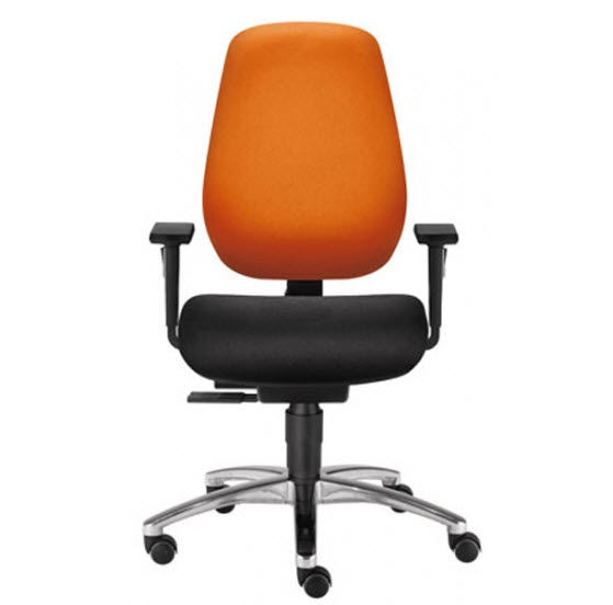 Contemporary Office Chair With Armrests On Casters Fabric Shape Economy