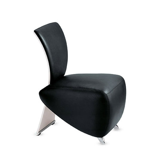Contemporary Fireside Chair / Synthetic Leather / For Public Buildings    BOBO