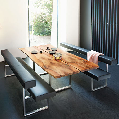 Contemporary Dining Table / Wooden / Metal / Rectangular   AUTHENTIC By  Stefan Westmeyer