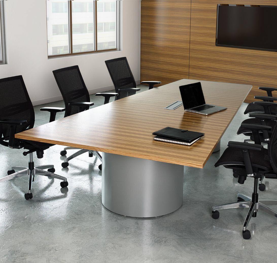 Merveilleux Contemporary Conference Table / Laminate / Metal / Rectangular   SERENADE™