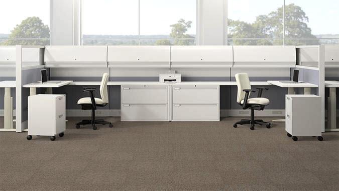 Workstation Desk Wooden Laminate Contemporary Genesis Ki
